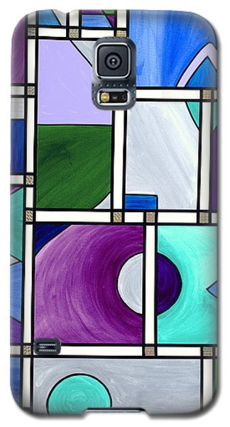 Purple -blue -green  Abstract 2 Galaxy S5 Case