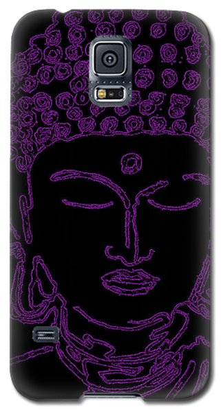 Galaxy S5 Case featuring the digital art Purple Buddha by Christine Perry