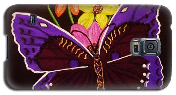 Purple Butterfly Galaxy S5 Case