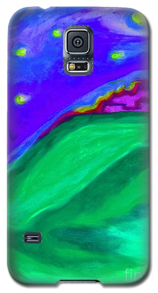 Galaxy S5 Case featuring the painting Purple Castle By Jrr by First Star Art