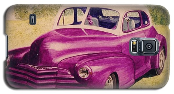 Purple Chevrolet Galaxy S5 Case by Stacy C Bottoms