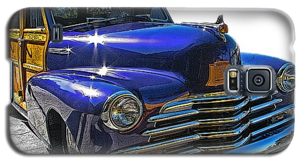 Galaxy S5 Case featuring the photograph Purple Chevrolet Woody by Samuel Sheats