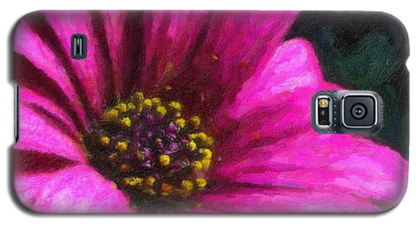 Galaxy S5 Case featuring the digital art Purple by Chuck Mountain