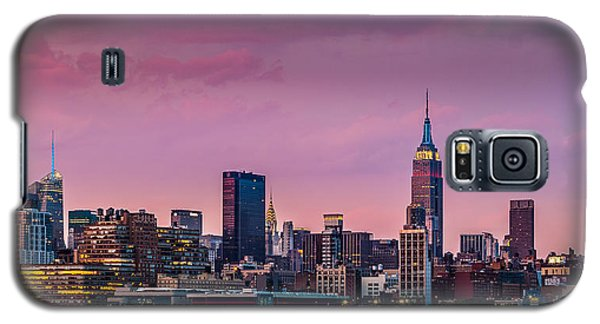 Galaxy S5 Case featuring the photograph Purple City by Mihai Andritoiu