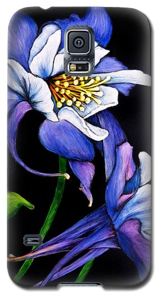 Purple Columbine Galaxy S5 Case