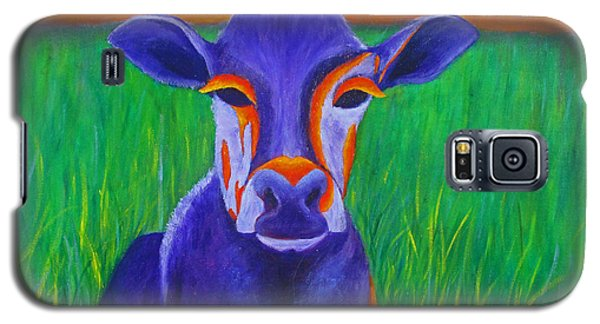 Purple Cow Galaxy S5 Case by Roseann Gilmore