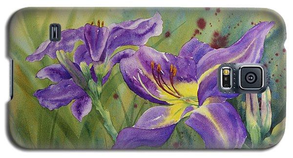 Purple Day Lily Galaxy S5 Case
