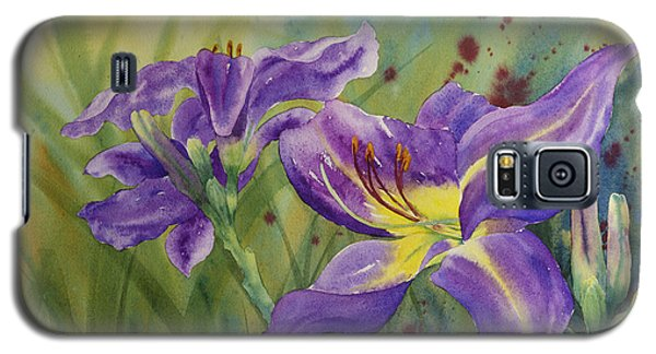 Purple Day Lily Galaxy S5 Case