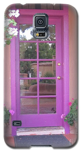 Galaxy S5 Case featuring the photograph Purple Door by Dora Sofia Caputo Photographic Art and Design