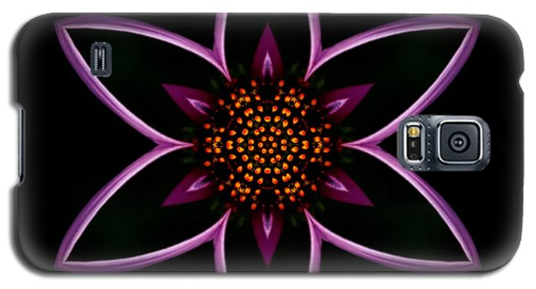 Purple Echinacea Flower Mandala Galaxy S5 Case