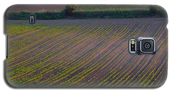 Galaxy S5 Case featuring the photograph Purple Fields by Evelyn Tambour