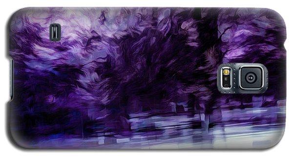 Purple Fire Galaxy S5 Case
