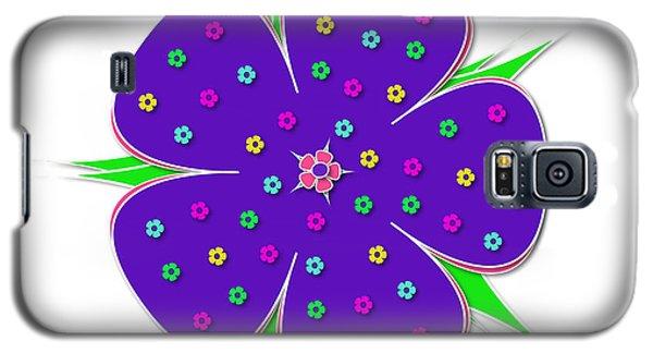 Purple Flower  Galaxy S5 Case