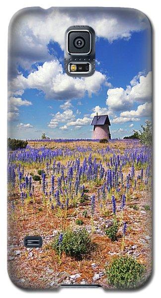 Purple Flower Countryside Galaxy S5 Case