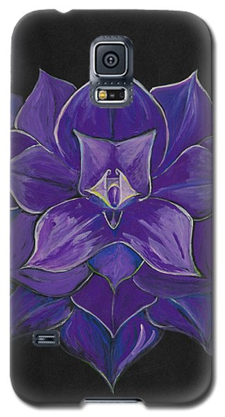 Purple Flower - Painting Galaxy S5 Case by Veronica Rickard