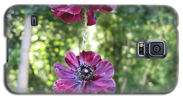 Galaxy S5 Case featuring the photograph Purple Flowers by HEVi FineArt