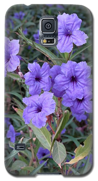 Galaxy S5 Case featuring the photograph Purple Flowers by Laurel Powell
