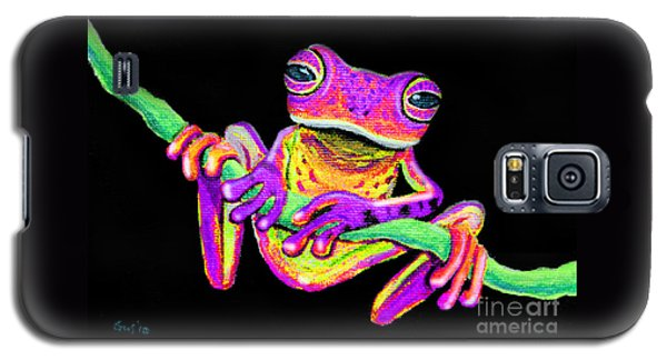 Purple Frog On A Vine Galaxy S5 Case