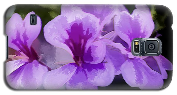 Purple Geraniums  Galaxy S5 Case