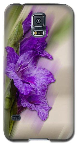 Purple Gladiolus Galaxy S5 Case by Patti Deters