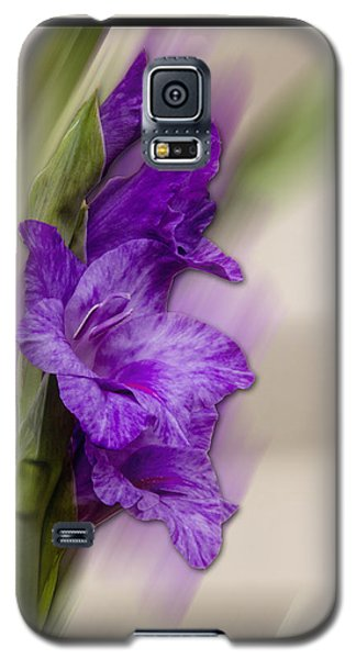 Purple Gladiolus Bloom Galaxy S5 Case