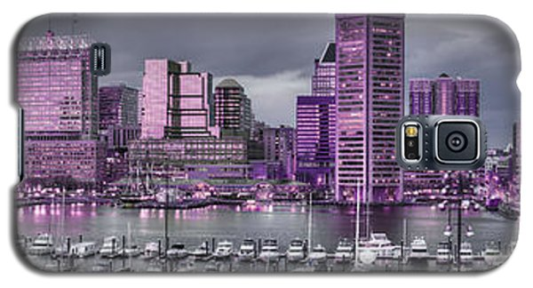Purple Glow On Charm City Galaxy S5 Case
