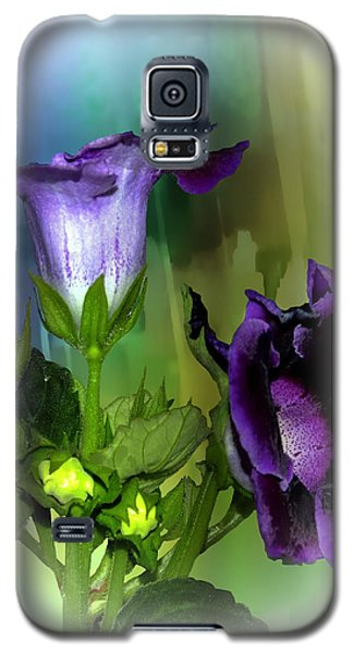 Purple Gloxinia II Galaxy S5 Case by Judy  Johnson