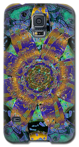 Purple Gold Dream Catcher Mandala Galaxy S5 Case