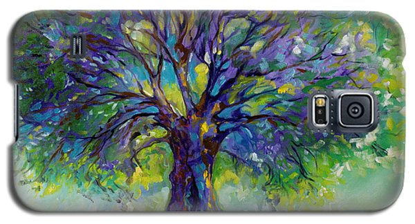Purple Heart Tree Of Life Galaxy S5 Case