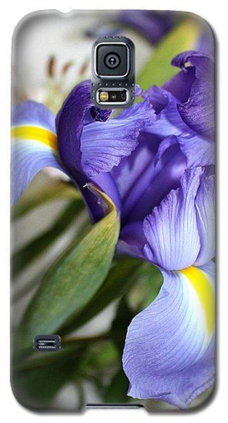 Galaxy S5 Case featuring the photograph Purple Iris by Ellen O'Reilly