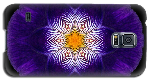 Purple Iris II Flower Mandala Galaxy S5 Case
