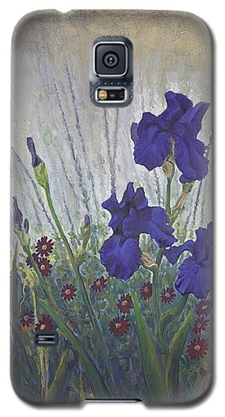 Galaxy S5 Case featuring the painting Purple Iris by Rob Corsetti
