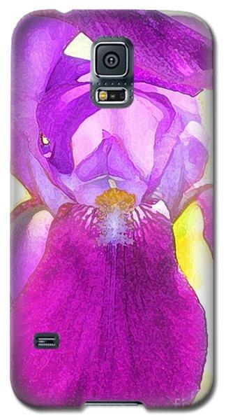 Purple Iris Watercolor Galaxy S5 Case