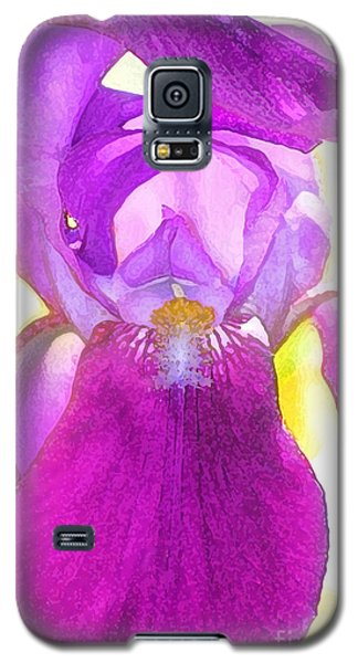 Purple Iris Watercolor Galaxy S5 Case