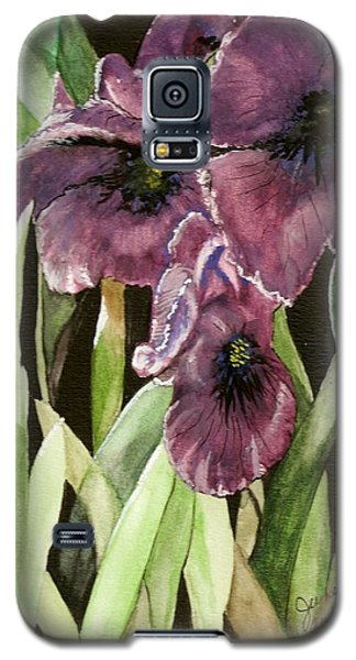 Purple Irises Galaxy S5 Case