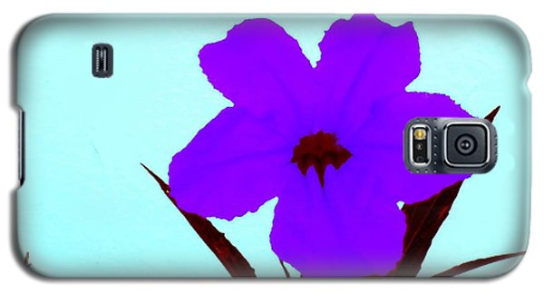 Purple Jack Flower Galaxy S5 Case