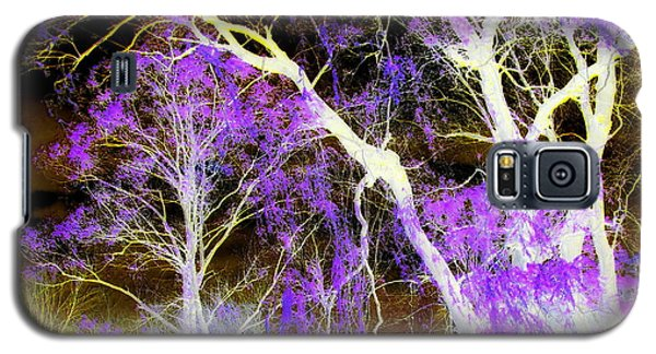 Purple Leaves And White Trees Galaxy S5 Case by Jodie Marie Anne Richardson Traugott          aka jm-ART