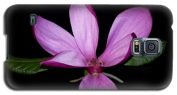 Galaxy S5 Case featuring the photograph Purple Magnolia by Nancy Bradley