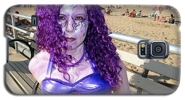 Galaxy S5 Case featuring the photograph Purple Mermaid by Ed Weidman