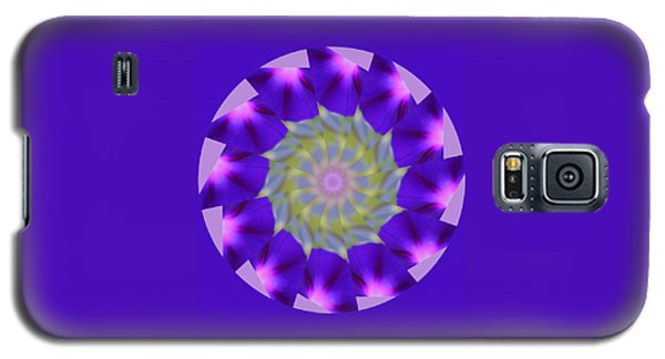 Purple Morning Glory Kaleidoscope Galaxy S5 Case