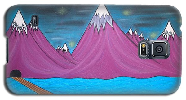 Purple Mountains Galaxy S5 Case by Robert Nickologianis