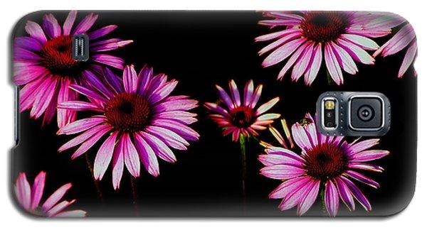 Purple On Black Galaxy S5 Case
