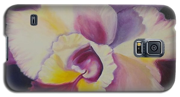 Galaxy S5 Case featuring the painting Purple Orchid by Jenny Lee