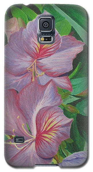 Purple Orchid Tree Galaxy S5 Case by Hilda and Jose Garrancho