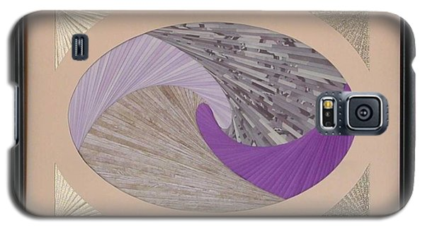 Galaxy S5 Case featuring the mixed media Purple Passion by Ron Davidson