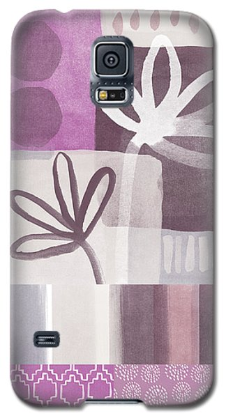 Orchid Galaxy S5 Case - Purple Patchwork- Contemporary Art by Linda Woods