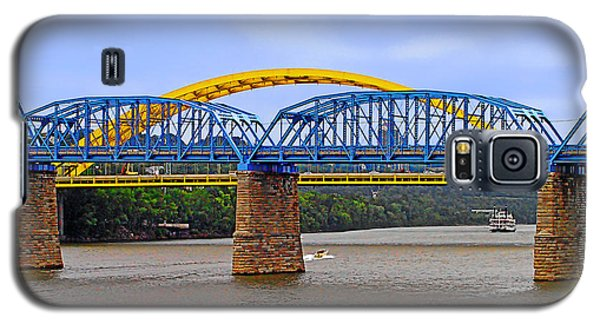 Purple People Bridge And Big Mac Bridge - Ohio River Cincinnati Galaxy S5 Case