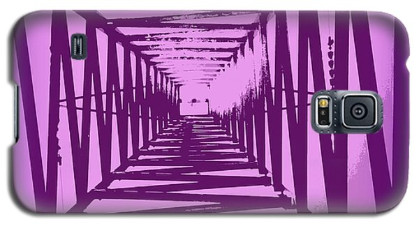 Galaxy S5 Case featuring the photograph Purple Perspective by Clare Bevan