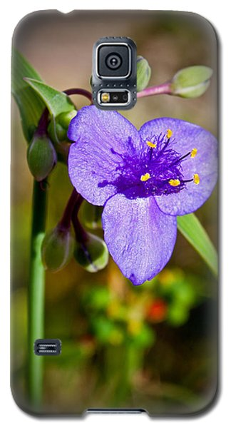 Galaxy S5 Case featuring the photograph Purple Petals by Jean Haynes