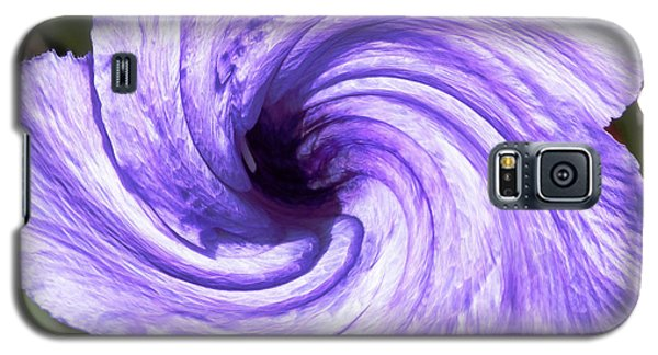 Purple Petunia Twirl Galaxy S5 Case